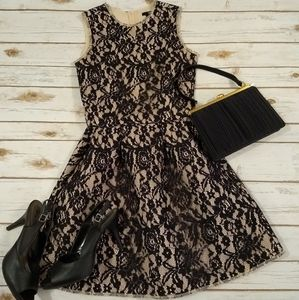 H&M Black Lace Sleeveless Fit and Flare Dress 6